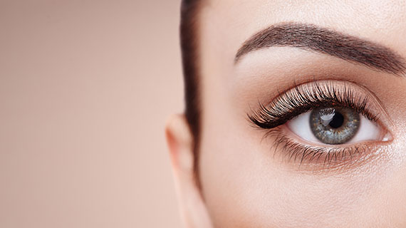 Alluring Woman's face with Microblade eye brows, eyelashes and eyeline - Best Permanent Makeup