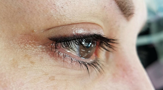 close up of eyeliner