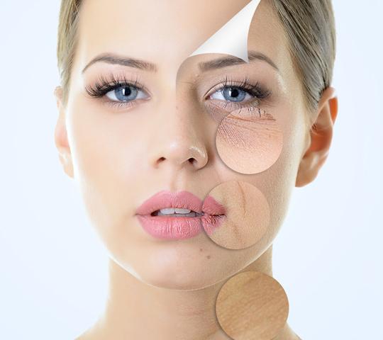 woman's facial treatments concept image