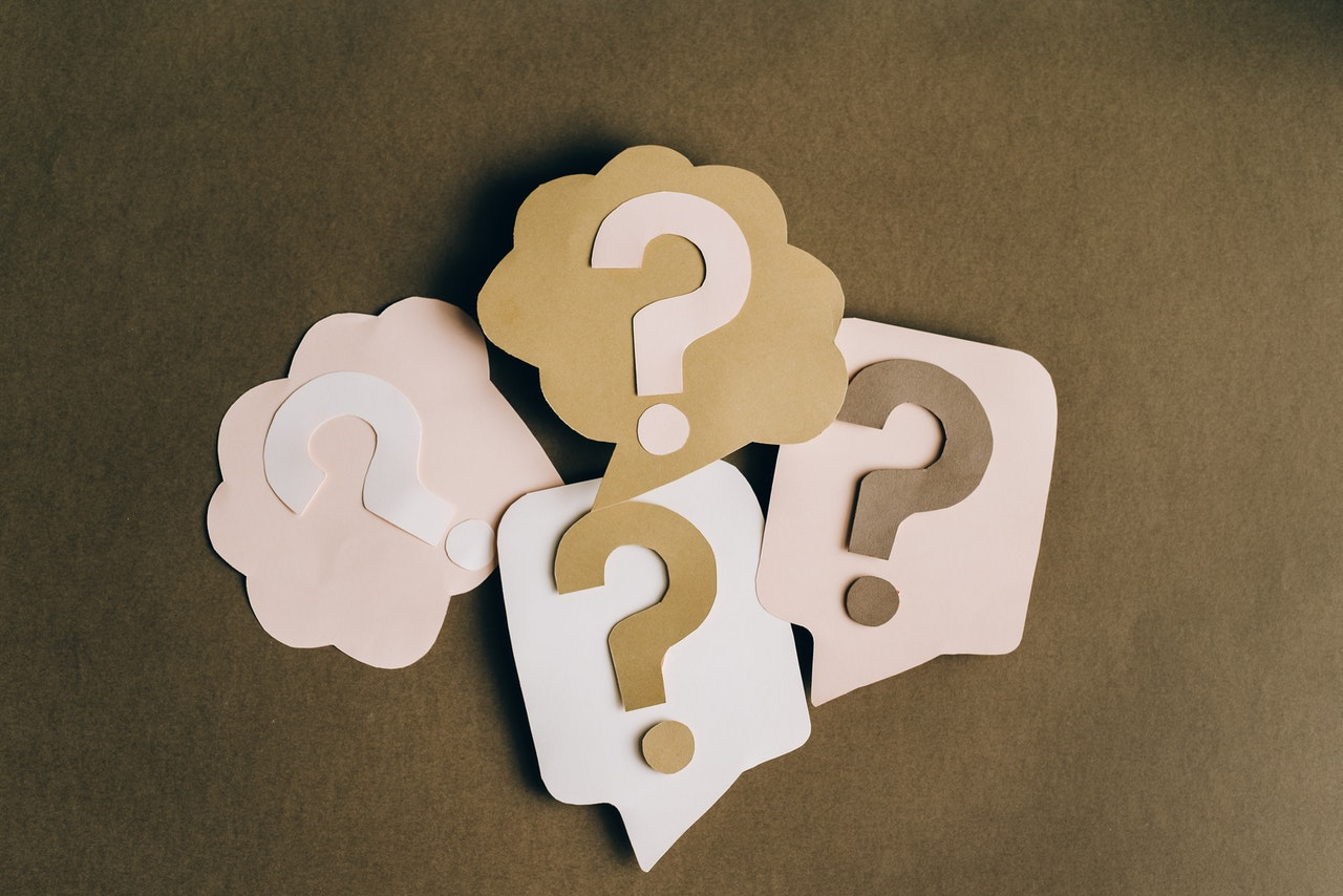 cut out question marks on table common eyebrow lamination question